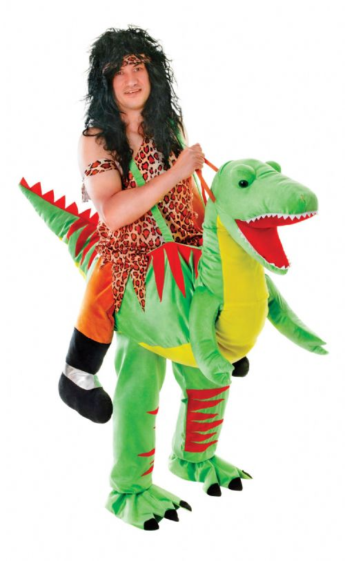 Adults Dinosaur Step In Costume Prehistoric Jurassic Animal Fancy Dress Outfit